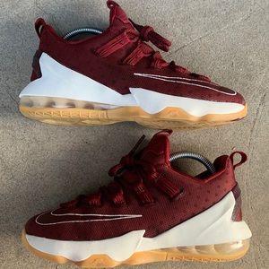 Nike LeBron 13 Low Maroon/Gum/White